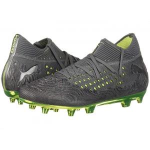 Future 19.1 LTD. ED. FG/AG Jr Soccer (Little Kid/Big Kid) Puma Aged Silver/Charcoal Gray/Fizzy Yellow