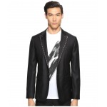 Glam Rock Silk Wool Blazer Black
