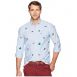 Classic Fit Embroidered Oxford Shirt Blue