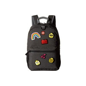 Patch Backpack & Pouch with Assorted Patches