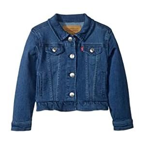 Ruffle Denim Trucker Jacket (Infant)