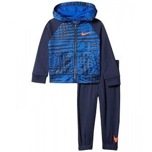 Nike Kids Therma Fleece Dominate Zip Hoodie and Joggers Two-Piece Set (Toddler) Midnight Navy