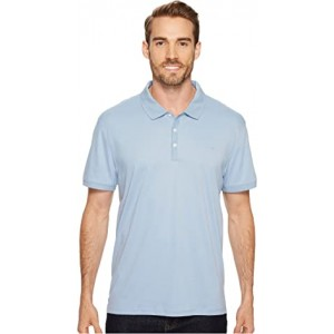 Liquid Cotton Solid Short Sleeve Polo Pacific
