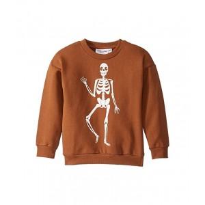 Skeleton Sweatshirt (Toddler/Little Kids/Big Kids) Brown