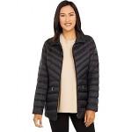 LAUREN Ralph Lauren Packable Puffer Coat with Stand Collar Black