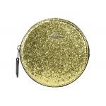 COACH Round Coin Case Gold/Silver