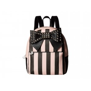 Studded Bow Backpack Black/Blush