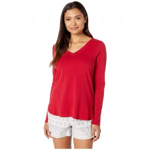Long Sleeve Top Festive Red