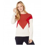 Long Sleeve Color-Block Jersey Sweater