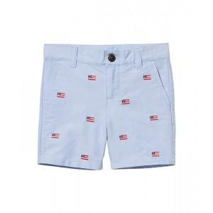 Janie and Jack Embroidered Flat Front Shorts (Toddleru002FLittle Kidsu002FBig Kids) Blue