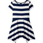 Yarn-Dye Handkerchief Dress (Big Kids)
