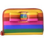 Bold Rainbow Zip Around Wallet
