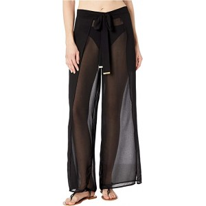 Solids Cover-Up Pants with Belt