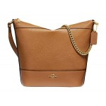 COACH Pebbled Leather Paxton Duffel Light Saddle