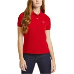 Lacoste Short Sleeve Two-Button Classic Fit Pique Polo Red