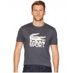 Sport Short Sleeve Tech Jersey T-Shirt w/ Large Croc Print