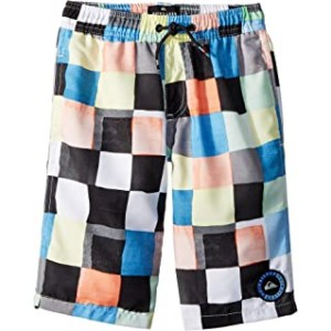 Resin Check Volley Shorts (Big Kids) White