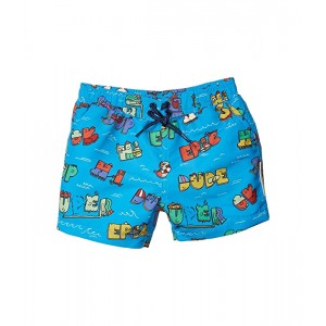 Stella McCartney Kids Super Dude Swim Shorts (Infant) Blue