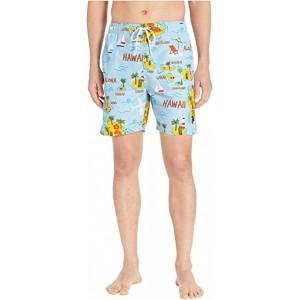 Hawaii Map Swim Shorts Blue