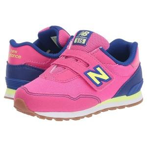 New Balance Kids 515 Hook & Loop (Infantu002FToddler) Exhuberant Pink/Marine Blue