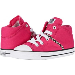 Converse Kids Chuck Taylor All Star Madison Friendship Bracelet - Mid (Infantu002FToddler) Cerise Pink/Ghost Green/White