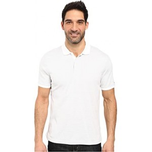 Liquid Cotton Stripe Polo Soft White Combo