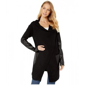 Long Sweater Drape Front Jacket in Roll Over