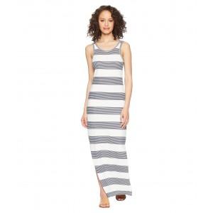 Tuba Stripes Maxi Dress Marshmallow Dress Blue Docker