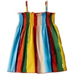 Painterly Striped Poplin Dress (Infant)