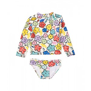 Stella McCartney Kids Two-Piece Smiling Flowers Rashguard Set (Infant) Multi