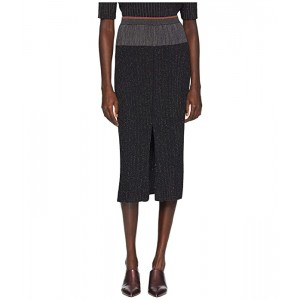 Lurex Stripe Knitted Skirt
