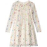 Long Sleeve Foil Dots Tulle Dress (Toddler/Little Kids/Big Kids)