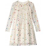 Stella McCartney Kids Long Sleeve Foil Dots Tulle Dress (Toddleru002FLittle Kidsu002FBig Kids) Cream