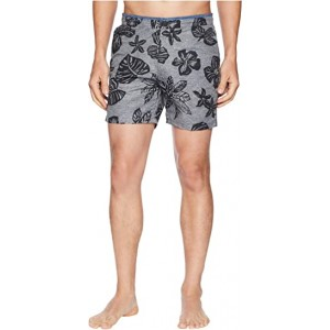 Printed Melange Swim Shorts with Cut & Sewn Waistband Combo B