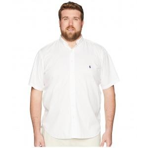 Big & Tall Garment Dyed Chino Short Sleeve Sport Shirt White