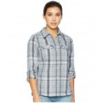 Silver Ridge Long Sleeve Flannel Shirt Cirrus Grey Ombre Window Plaid