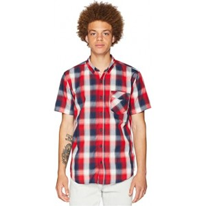 Vernon Short Sleeve Woven Chinese Red