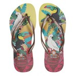 Havaianas Slim Tropical Flip Flops Lemon Yellow
