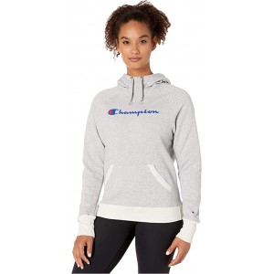 Champion Powerblend Graphic Hoodie Oxford Grey Heather/Oatmeal Heather