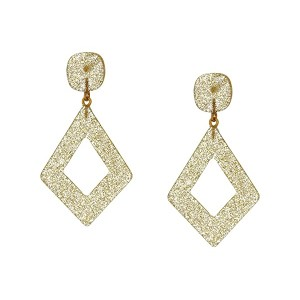 Diamond Shape Resin Glitter Earrings