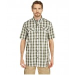 TW258 Force Relaxed Fit Short Sleeve Plaid Shirt
