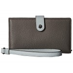 Phone Wristlet in Color Block Leather
