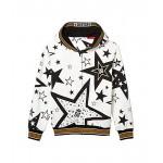 Dolce & Gabbana Kids Cappuccio Con Zip Hooded Cardigan (Big Kids) Stelle Fdo Panna