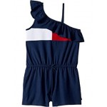 Tommy Hilfiger Kids One Shoulder Flag Romper (Big Kids) Flag Blue
