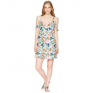 Currently Drifting Bright White Floral Soiree