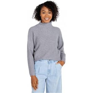 Mock Neck Long Sleeve Sweater Light Grey