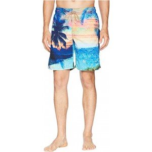 Sunset Island Swim Trunk Turquoise