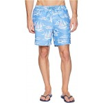 Sailing Scene Chappy Swim Trunks Cornflower