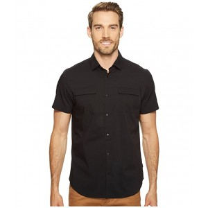 Stretch Poplin Button Down Shirt Black