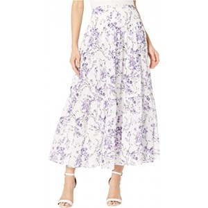 Tiered Cotton Voile Peasant Skirt